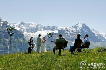 瑞士婚礼、拍摄