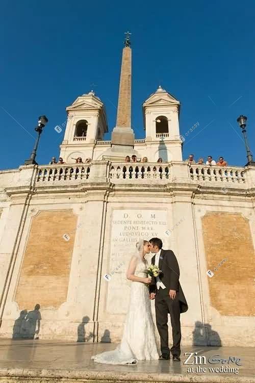 爱在罗马之圣母教堂浪漫婚礼