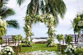 夏威夷婚礼之白兰花婚礼