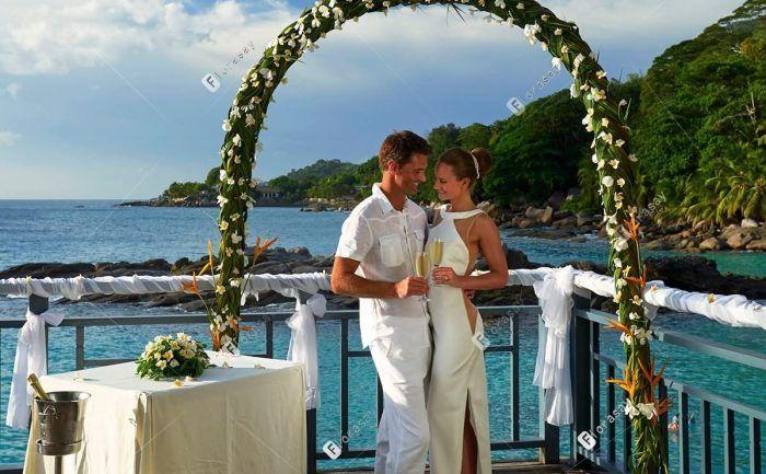 塞舌尔诺斯霍尔摩希尔顿度假酒店 海滩婚礼