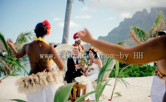 法属波利尼西亚大溪地波拉波拉四季酒店婚礼套餐