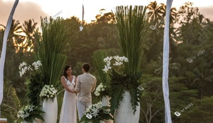 巴厘岛森林婚礼,四季山妍酒店梦幻海外婚礼套餐