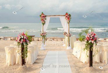 金色沙滩牙买加海外婚礼,加勒比风情度假婚礼套餐