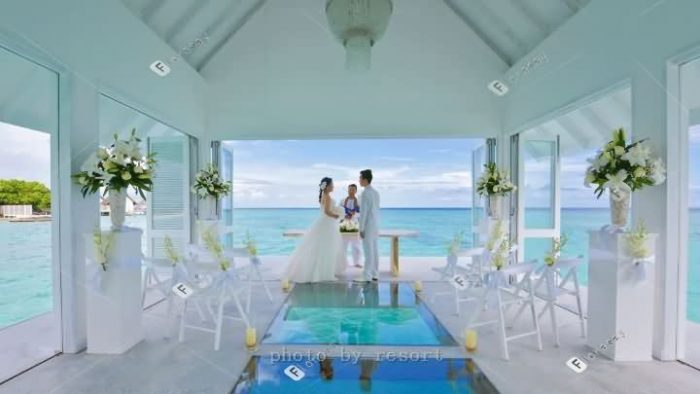 马尔代夫大四季兰达性价比海岛婚礼套餐