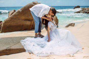 威廉王子最爱目的地之塞舌尔海外婚礼 拥抱蓝色大海和海椰子森林