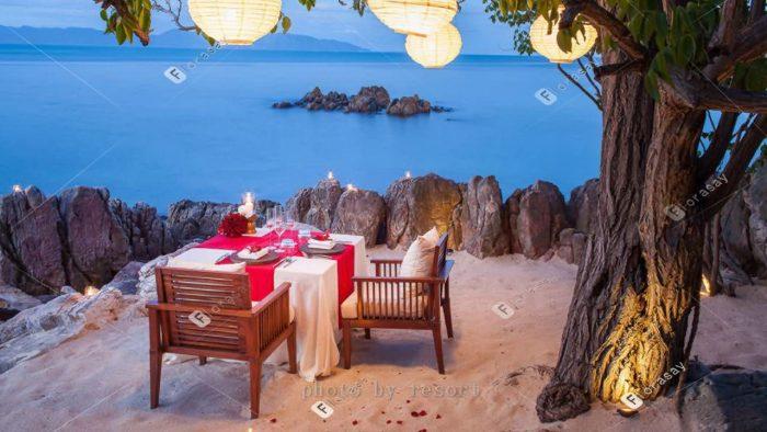 泰国苏梅海岛婚礼,四季酒店浪漫婚礼套餐