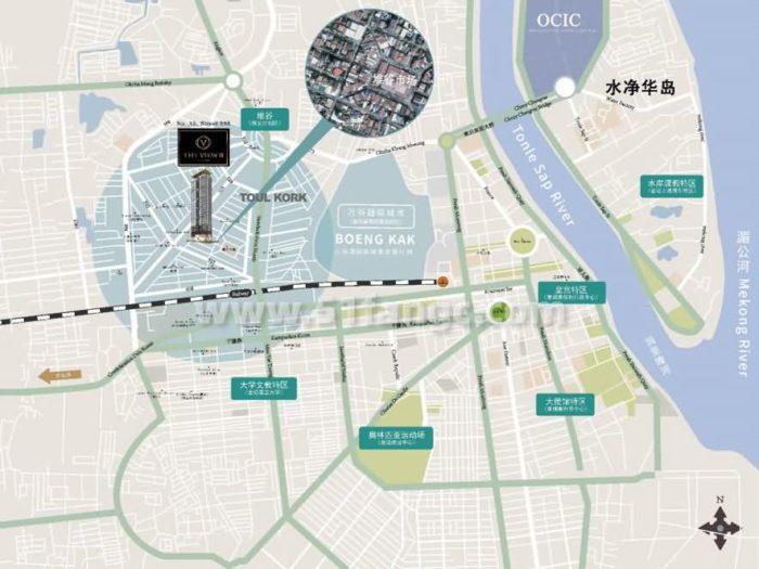 柬埔寨金边THE VIEW酒店式公寓,一带一路市中心优质地段项目
