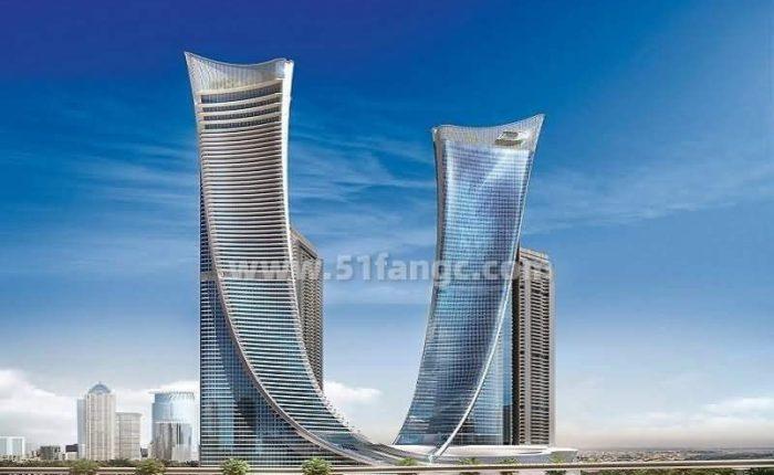 阿联酋迪拜AYKON City酒店公寓海外房产,俯瞰迪拜运河迷人风光