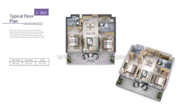 阿联酋迪拜Reva公寓海外房产,与繁华社区迪拜商业湾为邻