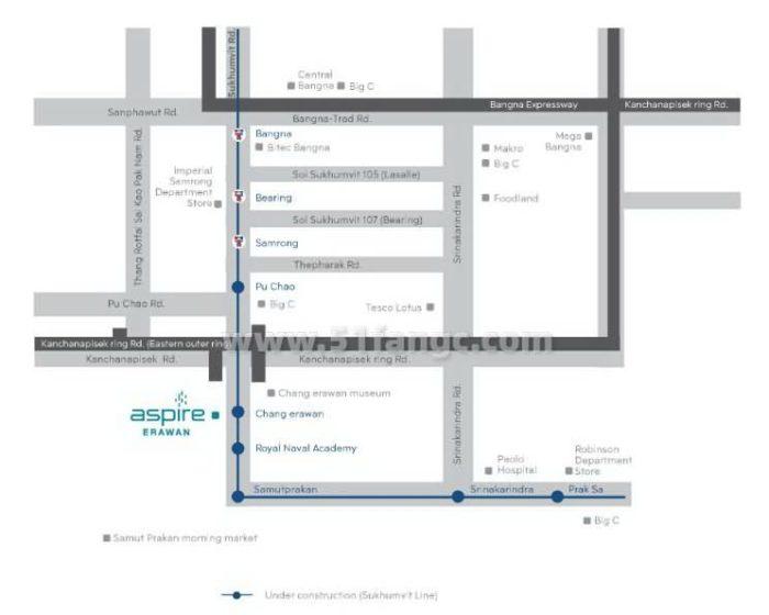 泰国曼谷Aspire Erawan公寓海外房产,尽享美好生活与优质城市资源