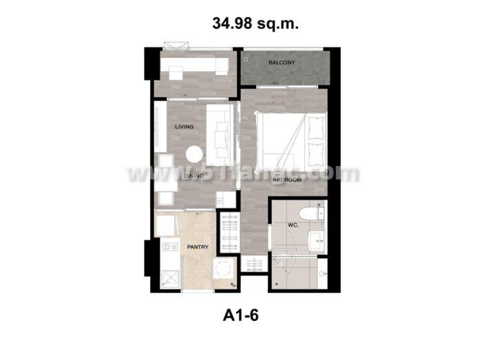 泰国曼谷Niche Mono SuKhumvit-Puchao海外房产,总价60万地铁0距离