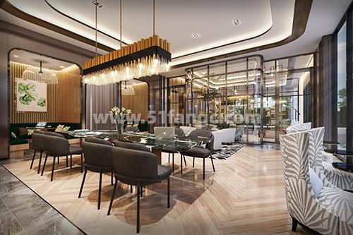 泰国普夏曼谷新城公寓,与交通枢纽中心为邻