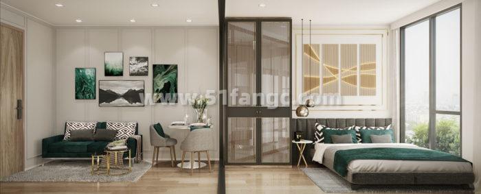 泰国普夏曼谷新城公寓海外房产,与交通枢纽中心为邻